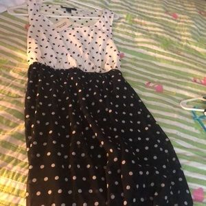 Pika dot black and white dress